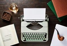 Art Schreibmaschine der Weinlese f Stockfotografie