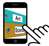 Art Science Folders Displays Humanities Or Sciences Royalty Free Stock Photography
