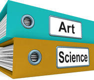 Art Science Folders Mean Humanities Or Sciences Stock Photo