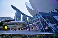 Art Science Museum, Marina Bay Sands Royalty Free Stock Photos