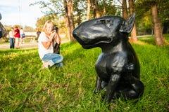 Art Sculpture Exhibition al aire libre en el parque de Nirox fotos de archivo libres de regalías