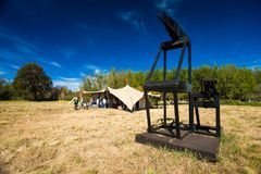Art Sculpture Exhibition all'aperto al parco di Nirox fotografia stock