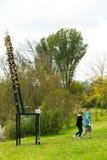 Art Sculpture Exhibition all'aperto al parco di Nirox fotografia stock libera da diritti