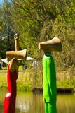 Art Sculpture Exhibition all'aperto al parco di Nirox fotografie stock