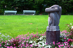 Art Sculpture moderno en el parque, Montreux Imágenes de archivo libres de regalías