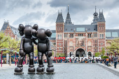 Art Sculpture in the Yard of The Rijksmuseum in Amsterdam Royalty Free Stock Images