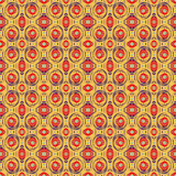 Art seamless ethnic pattern background with watercolor rings. Stock Photos