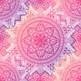 Art seamless pattern mandala. Ethnic abstract print. Colorful repeating background texture. Culture bohemian ornament. Vector illustration stock illustration