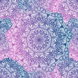Art seamless pattern mandala. Ethnic abstract print. Colorful repeating background texture. Culture bohemian ornament. Vector illustration royalty free illustration