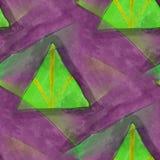 Art seamless purple, green contemporary texture watercolor unusu Royalty Free Stock Photos