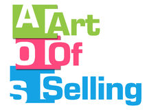 Art Of Selling Colorful Abstract-Strepen Vector Illustratie