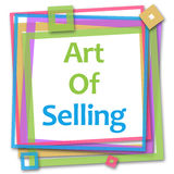 Art Of Selling Colorful Frame Stock Image