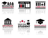 Art set education icons Stock Images