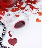 Art sexual greeting card Happy Valentine. Sexual greeting card Happy Valentine Stock Image