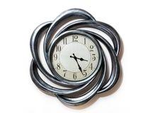 Art shape clock. circle clock stock images