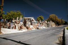 Art shop in Cyprus. Design blue sky Stock Photos