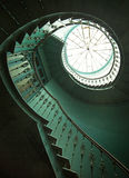 Art shot of wooden spiral stairs Royalty Free Stock Image