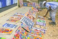 Art Show im Freien, Cabatete, Dominikanische Republik stockfotografie