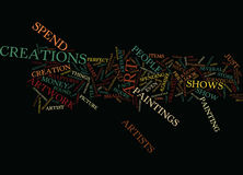 Art Shows Word Cloud Concept Image stock