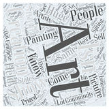 Art shows 28 word cloud concept vector background Stock Image