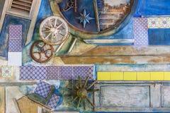 Art sicilien de mur Photos stock