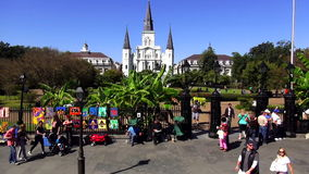 Art sidewalk sale at Decatur Street New Orleans New Orleans Louisiana