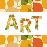 Art sign with leaves ornament. Decorative frame Stock Image