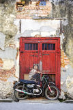 The Art Site with old walls in Penang, Malaysia.  Stock Images