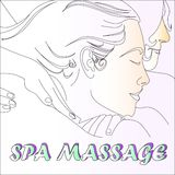 Spa massage relax Health sketch art Stock Images