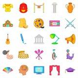 Art skill icons set, cartoon style Royalty Free Stock Photo