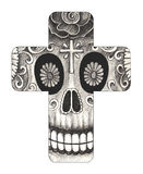Art skull cross day of the dead. Royalty Free Stock Images