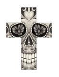 Art skull cross day of the dead. Stock Photo
