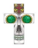 Art skull cross. Royalty Free Stock Image