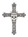 Art skull cross tattoo. Royalty Free Stock Photo