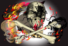 Art and skull dark Stock Images