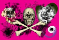 Art and skull dark Royalty Free Stock Image