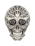 Art skull day of the dad. Stock Photos