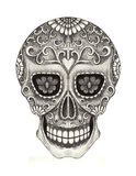 Art skull day of the dad. Royalty Free Stock Images
