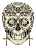 Art skull day of the dad. Stock Images
