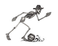 Art skull day of the dead. Royalty Free Stock Photography
