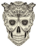 Art skull day of the dead. Royalty Free Stock Image