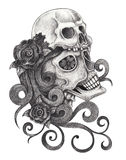 Art skull day of the dead. Stock Photography