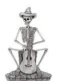 Art skull day of the dead. Stock Image