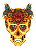 Art skull day of the dead festival. Stock Photography