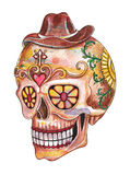 Art skull day of the dead festival. Stock Photo