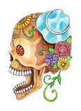 Art skull day of the dead festival. Royalty Free Stock Photo