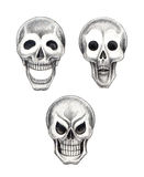 Art skull 3 emotion tattoo Royalty Free Stock Photography