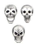 Art skull 3 emotion tattoo Royalty Free Stock Photography