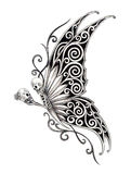 Art skull fairy tattoo. Royalty Free Stock Photos