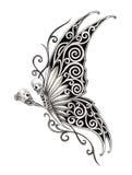 Art skull fairy tattoo. Royalty Free Stock Photos